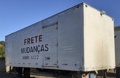 Baú Para Truck, Assoalho Chapiado,marca Carbus
