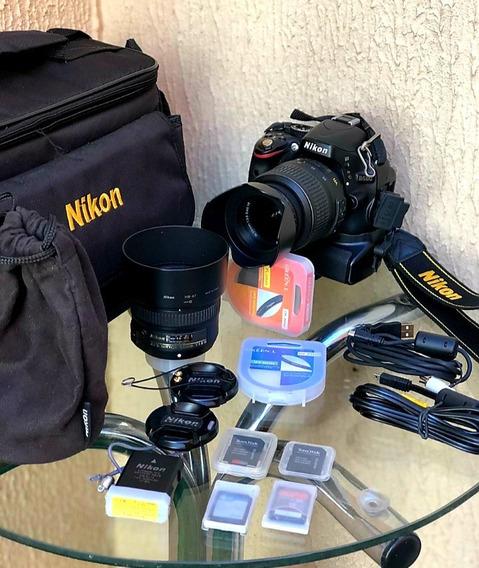 Camera Nikon D5100 + Nikkor 18-55mm E Nikkor S 50mm 1:1.8g