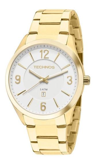 Relógio Technos Dourado Análogo Calendário 2015byytd/4b