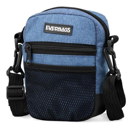 Shoulder Bag Azul Mescla Everbags Bolsa Tira Colo Necessaire
