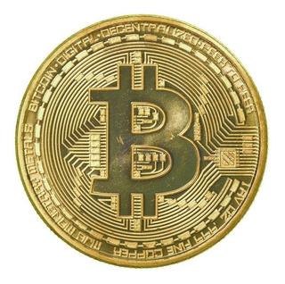 Bitcoin Moneda Representación Física 2 Piezas