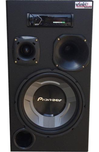 Caixa Auto Residencial Bluetooth Pioneer Ts-w3060 Completa