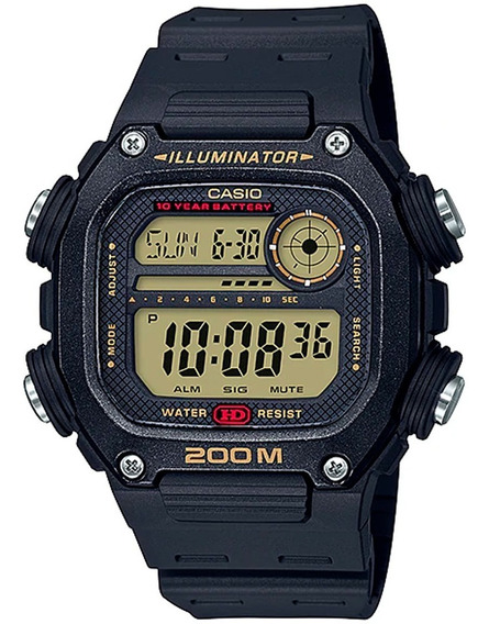 Relógio Casio Masculino Digital Dw-291h 9av Preto 200m