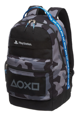 Kit Mochila Costas + Estojo Necessaire Playstation Combat