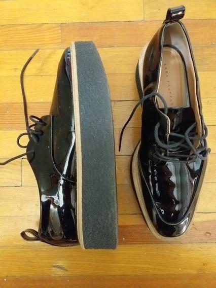 Zapato Zara Negro Charol Talla 35