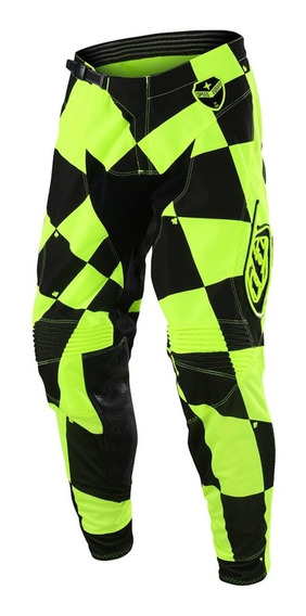 Pantalon Motocross Troy Lee Se Joker Amarillo Fluor/negro