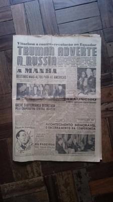 Jornal A Manhã 1947 - Flamengo / Botafogo / Virginia Lane
