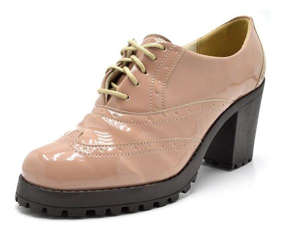 Bota Ankle Boot Oxford Feminino