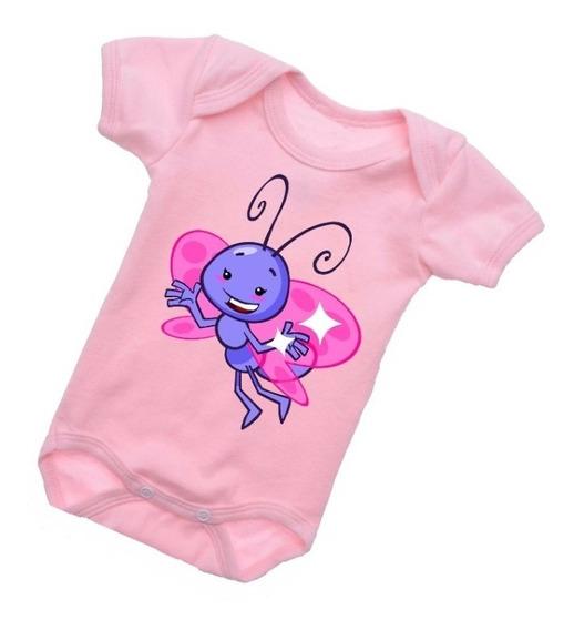 Body Bebê Borboletinha Divertido Galinha Pintadinha B239rb