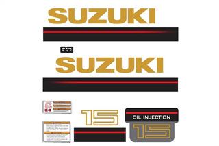 Faixa Adesivo Motor Suzuki 15 Hp 1995
