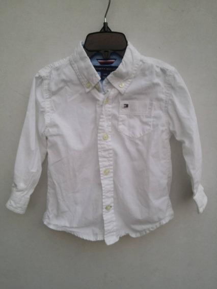 Camisa Tommy Hilfiger Niño 18 Meses 18m Blanca Uso