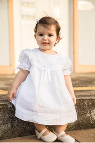 Vestido Batizado Renascença Ordens + Faixa Flor Renda Pérola