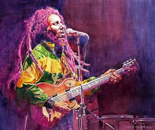 Pintura Oleo Sobre Lienzo, Sin Marco En Bastidor. Bob Marley