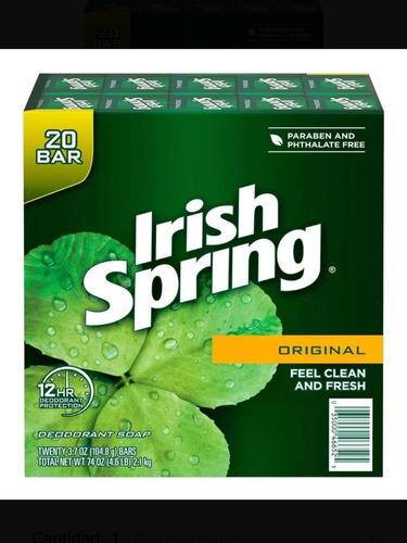 Jabon De Irish Spring X 20 Unidades  104,8g