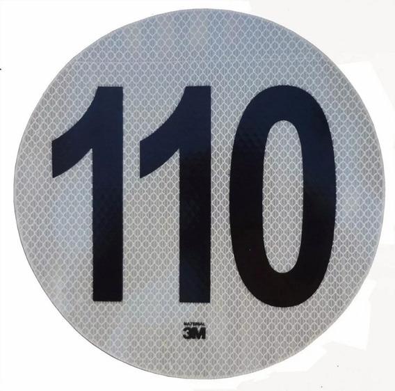 Calco Maxima 110 Km/h Disco Homologado Vtv Calcomania