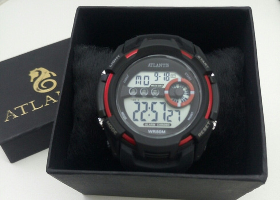 Relógio Masculino Analógico Atlantis Mod.g-5515 Silicone.