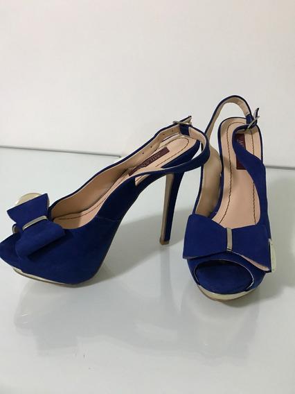 Peep Toe Azul Bic