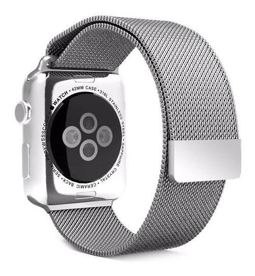 Pulseira Milanese Apple Watch Aço Inoxidavel 42mm/44mm Prata