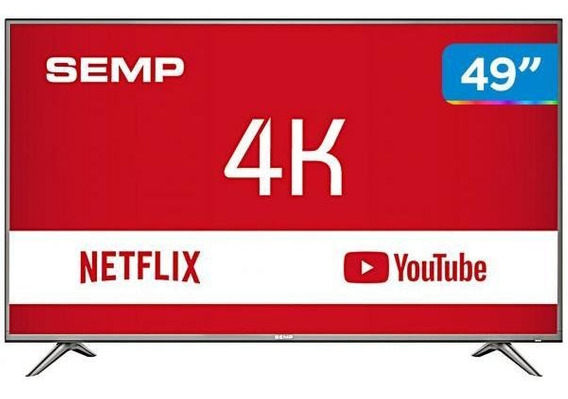 Smart Tv 4k Led 49 Semp Sk6200 Wi-fi Hdr-3 Hdmi 2 Usb