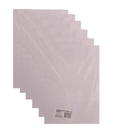 Kit 10 Pcts Cartolina Cortada A4 Branco 500 Fls -pereira