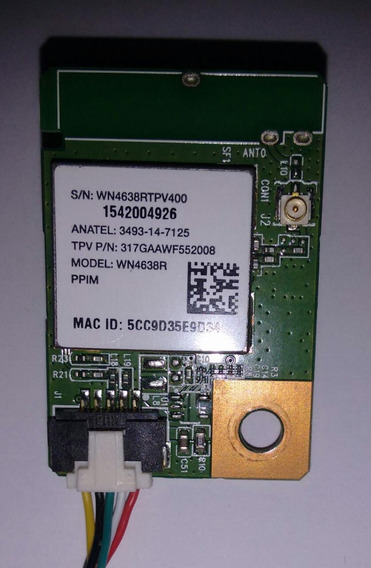 Placa Wireles Wi-fi Da Tv Philips 43pfg5100