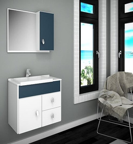 Gabinete / Armário P/ Banheiro Tuon Susp 55cm
