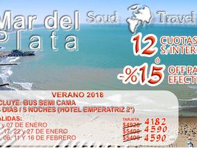 Vacaciones En Mar Del Plata 2018 - Costa Atlantica - Gesel