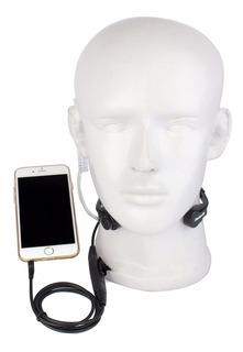 Fone De Ouvido Laringofone Para Celular Plug 3,5 Mm Retevis