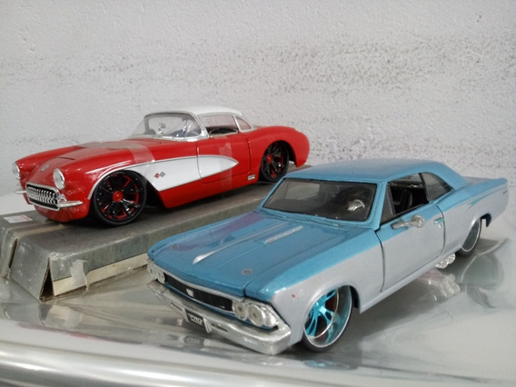 Lote C/02 Carros Muscle Car Americanos 1/24