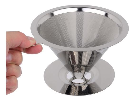 Coador De Café Permanente Aço Inox N°103 Filtros De Café