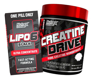 Creatine Drive 300g + Lipo 6 Black 120 Cáps - Nutrex