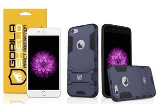 Capa Armor E Película De Vidro iPhone 6 Plus - Gs