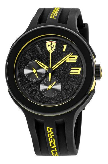 Relógio Masculino Ferrari 0830224 Pulseira De Silicone