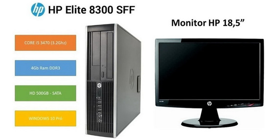 Desktop Hp Elite 8300 + Monitor 18,5 Core I5 4gb + Hd 500gb
