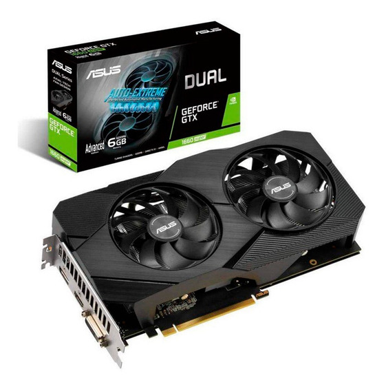 Placa Video Geforce Gtx 1660 6gb Asus Super Evo Oc Gddr6