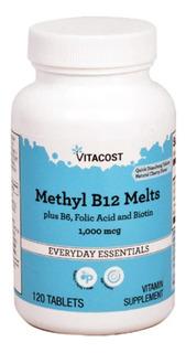 Vitamina B12 Metil Sublingual 1000mcg 120 Tabletes Cod. 130