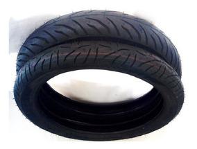 Par Pneus Pirelli 80/100-18 + 100/80-18 Supercity Sem Camara