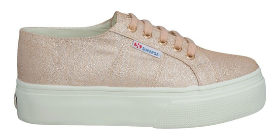 Tênis Superga 2790 Summer Lurex Rose