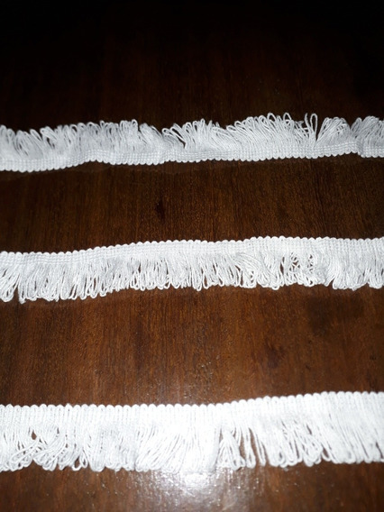 Fleco De Algodon Blanco De 2.5 Cm X 50 Mts