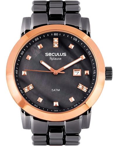 Relógio Feminino Seculus 20422lpsvua6 Aço Negro
