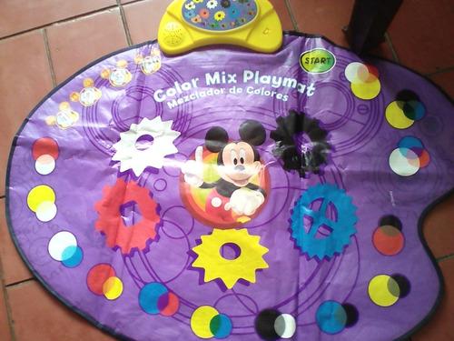Alfombra De Colores De La Casa De Mickey Mouse