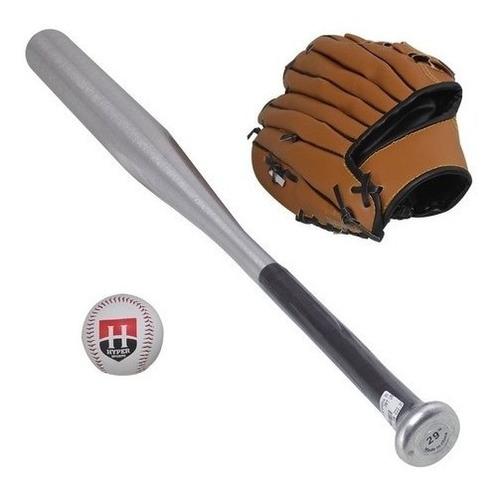 Kit Taco De Baseball De Aluminio Com Bola  Luva Frete Grátis