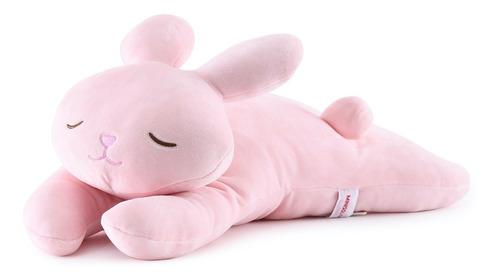 Peluche Conejo Rosa Almohada Para Dormir Contención Y Apego