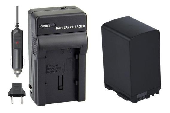 Kit Bateria Bp-827 + Carreg P Canon Hf-10, Hf-g20, Hf-m3