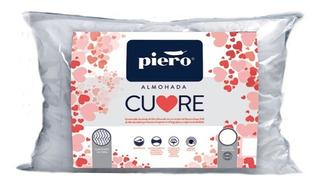 Almohada Piero Cuore De Fibra 70x40 Con Corazón De Espuma