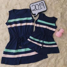 65351545598916 Vestido Tal Mãe Tal Filha Regata Faixas Color