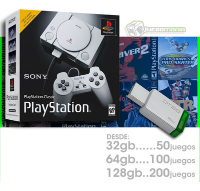 Desbloqueo Mini Psx Psone Playstation Desde 32gb Hasta 128gb