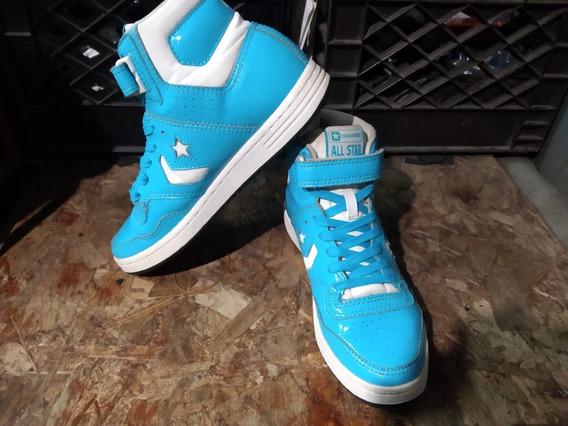 Zapatos Botin Converse All Star Azules Talla 38 Originales
