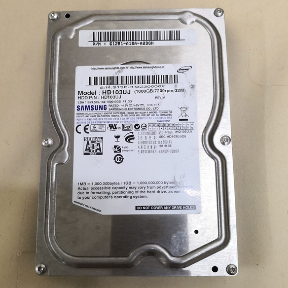 Hd 1tb Samsung Desktop Hdd Sata 3,5 7200 Rpm Hd103uj