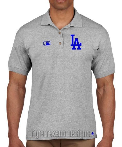 Playera Polo Dodgers Los Angeles Mod.01 Tigre Texano Designs
